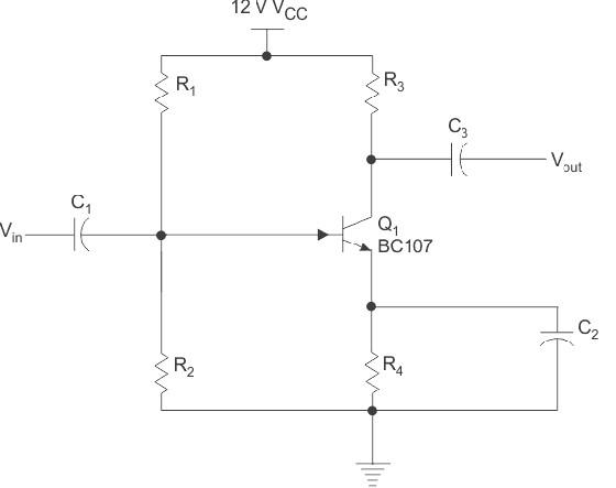 ترانزیستورهای BJT (تقویت کننده CE تک مرحله ای RC)